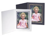 Cardboard Photo Folders w/Foil Border 8x10 Vertical (25 Pack)