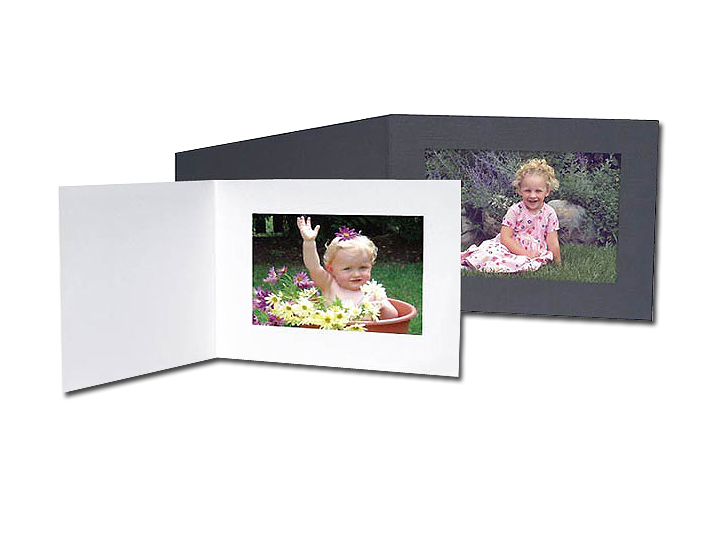 Cardboard Photo Folders 5x3-1/2 White Horizontal (25 Pack)
